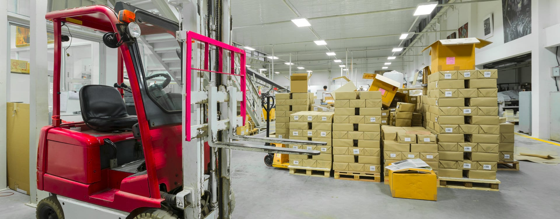 products inside the warehouse
