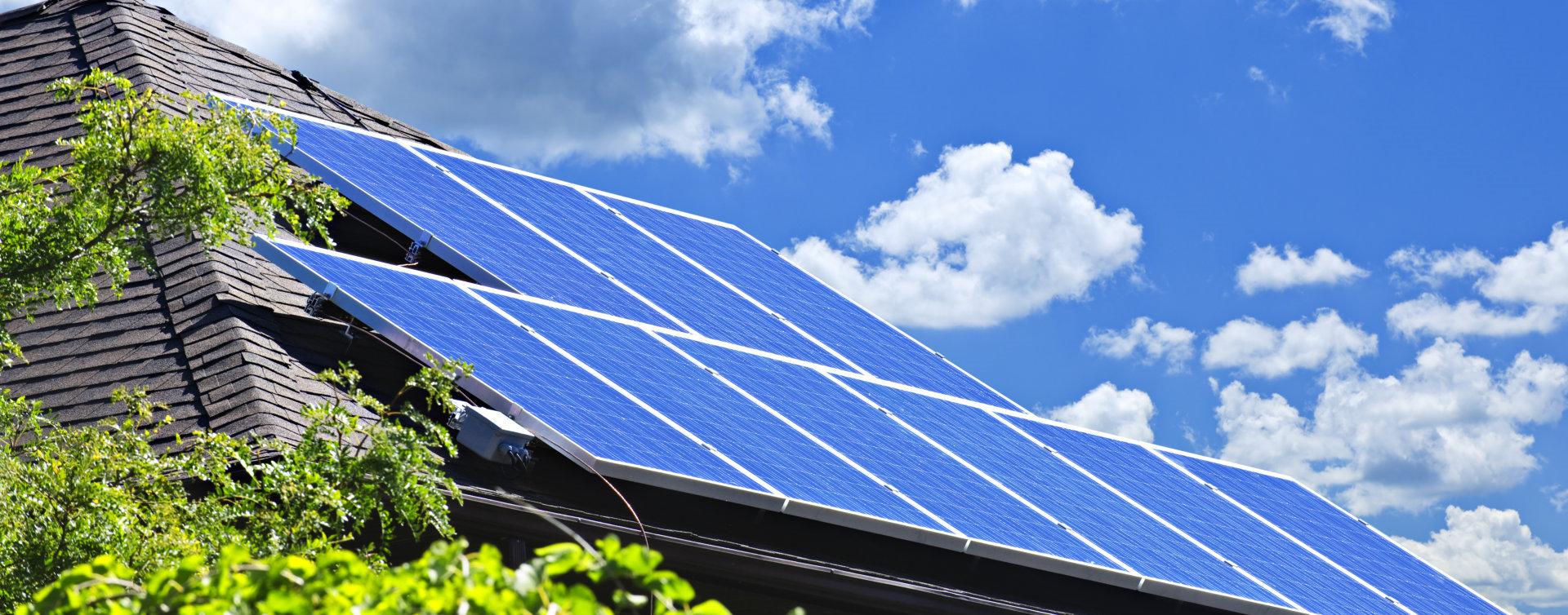 renewable energy with solar panels