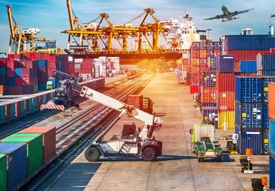 a portrait of logistics concept