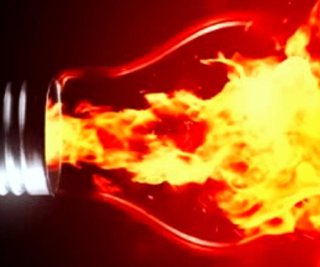 bulb flaming