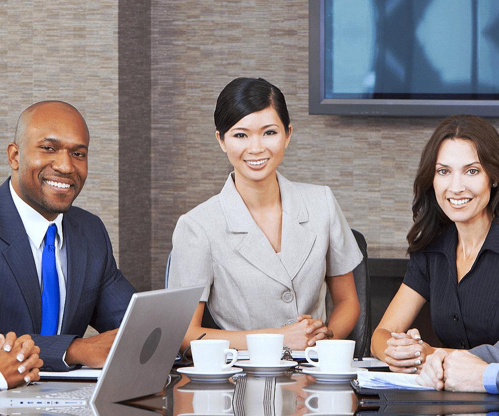 marketing team smiling